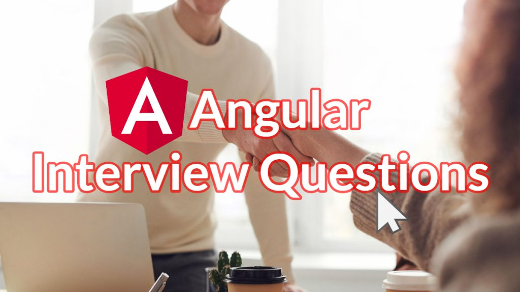 Angular Developer Interview Participants shaking hands after answering questions.